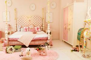 欧式风格浪漫粉色公主房儿童房装修效果图