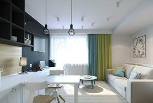 现代简约风格创意客厅吧台设计装修效果图