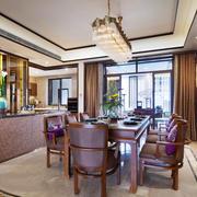美式风格别墅室内餐厅吊灯设计装修效果图赏析