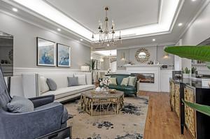 152平米现代简约美式风格大户型室内装修效果图