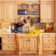 欧式风格精致典雅厨房橱柜设计装修效果图