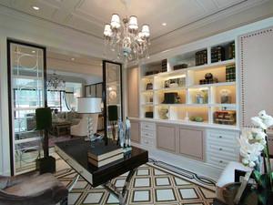欧式风格精致三居室书房设计装修效果图