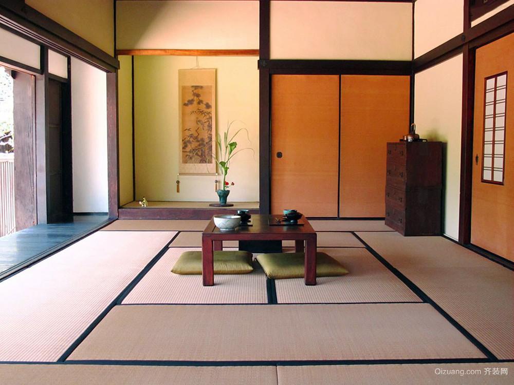 日式风格简约自然榻榻米设计装修效果图