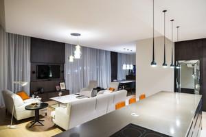 120平米现代风格精致时尚室内装修效果图案例