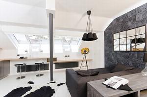 72平米现代风格loft装修效果图实例