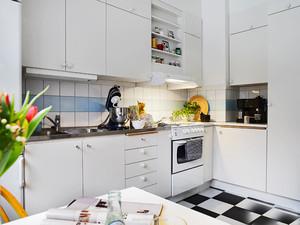 宜家风格简约精致厨房橱柜设计装修效果图