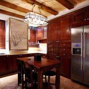 中式风格古朴雅致整体厨房装修效果图赏析