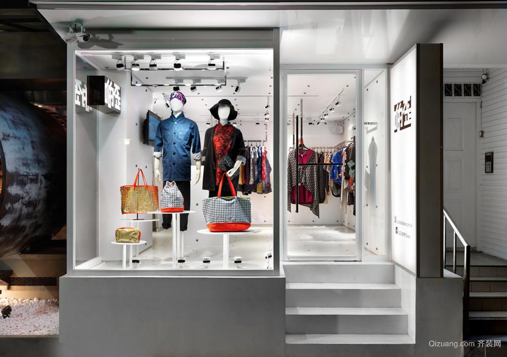 40平米现代简约风格服装店面装修效果图