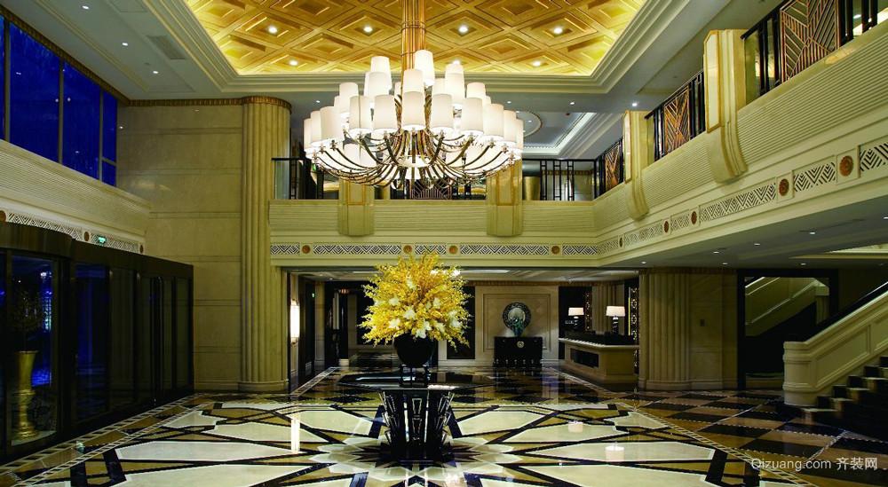 欧式风格富丽堂皇酒店大堂装修效果图