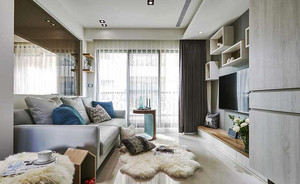 81平米北欧风格两室一厅室内装修效果图