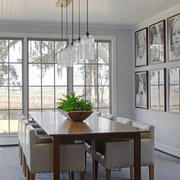 后现代风格别墅室内创意餐厅吊灯装修效果图