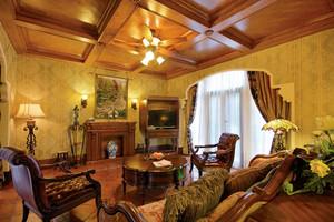 复古美式风格别墅室内装修效果图赏析