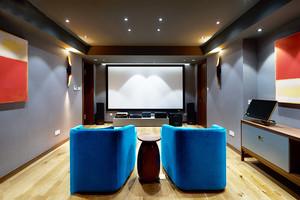 16平米现代风格室内家庭影院装修效果图