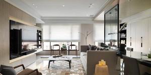 现代风格大户型室内客厅隔断设计装修效果图