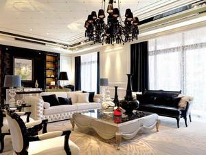 130平米欧式风格大户型精美典雅室内装修效果图