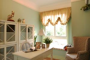 126平米精美欧式田园风格三室两厅室内装修效果图