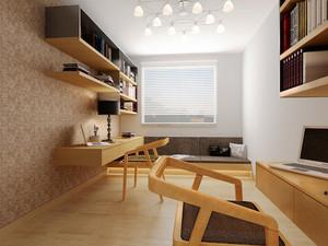 宜家风格浅色自然书房设计装修效果图