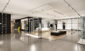 100平米精致简约服装店设计装修效果图