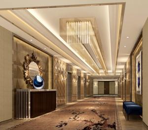 500平米精致欧式风格酒店过道装修效果图