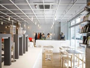 现代工业风格文艺咖啡厅设计装修效果图