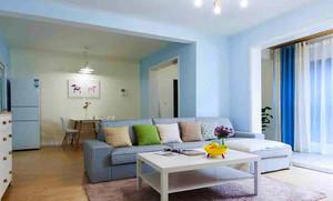 90平米都市清新风格室内装修效果图赏析