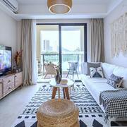 北欧风格浅色温馨客厅装修效果图赏析