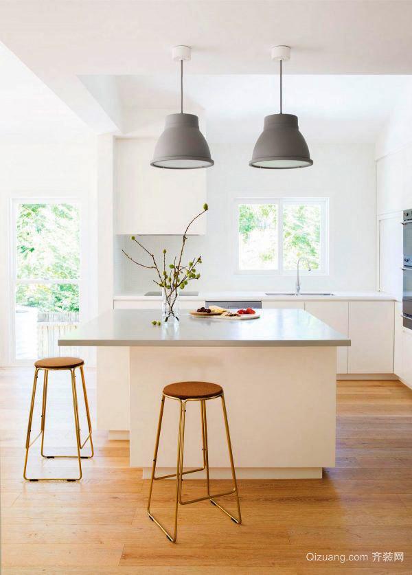 现代风格室内精美开放式厨房吧台装修效果图大全