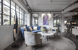 后现代风格loft客厅沙发装修效果图赏析