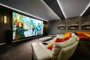 现代风格创意家庭影视墙装修效果图大全