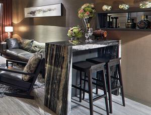 后现代风格精致客厅吧台设计装修效果图
