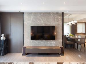 129平米简约新中式三室两厅室内装修效果图