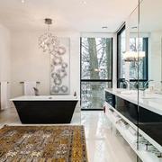 现代风格别墅室内豪华卫生间装修效果图