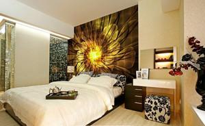 现代风格创意卧室背景墙装修效果图赏析