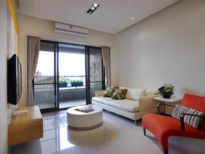 64平米现代简约风格一居室小户型装修效果图