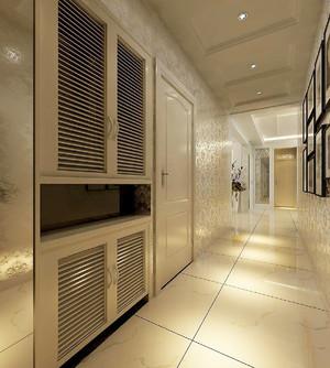 现代美式风格大户型室内玄关鞋柜设计装修效果图