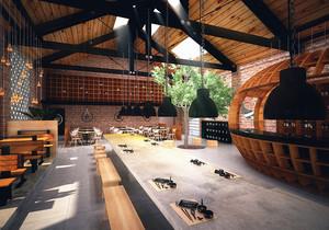 乡村风格创意餐厅设计装修效果图