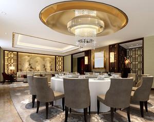 56平米新中式风格酒店包厢设计装修效果图