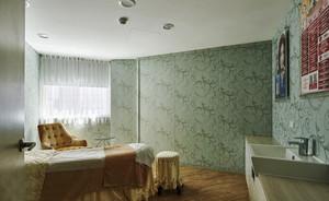 新中式风格精致美容院包厢设计装修效果图