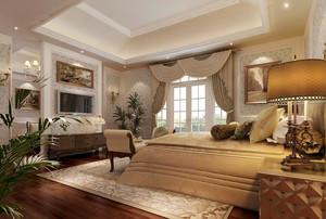 欧式风格精致温馨酒店客房设计装修效果图