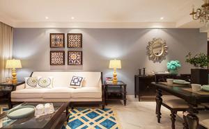 81平米时尚混搭风格两室两厅室内装修效果图案例