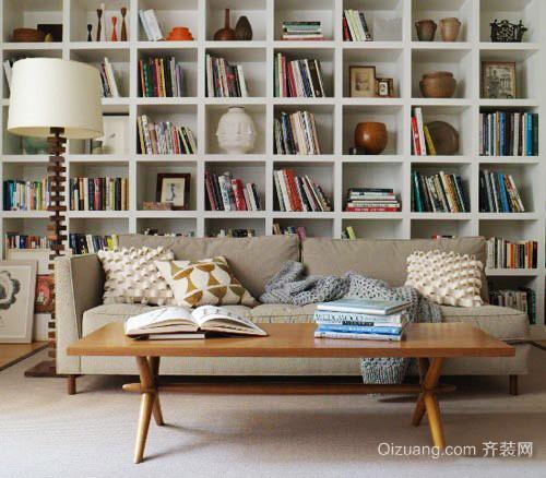 宜家风格小户型客厅沙发背景墙装修效果图