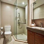 现代风格大户型室内卫生间淋浴房装修效果图