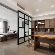 中式风格大户型室内卧室隔断设计装修效果图