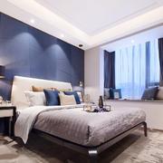 现代风格两居室室内卧室榻飘窗设计装修效果图