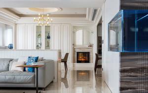 现代简约美式风格三室两厅室内装修效果图赏析