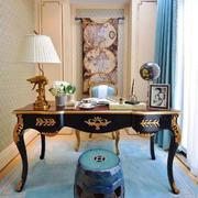 新中式风格别墅室内奢华书房设计装修效果图