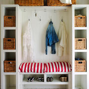 北欧风格小户型创意玄关鞋柜设计装修效果图