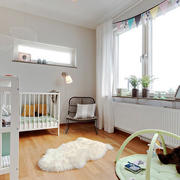 北欧风格简约清新婴儿房设计装修效果图赏析