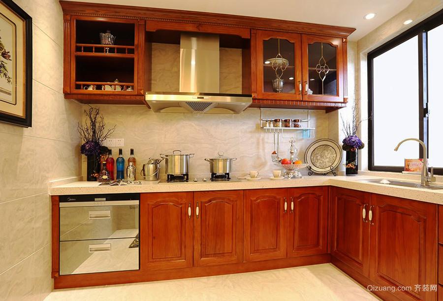 美式乡村风格整体厨房设计装修效果图赏析