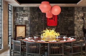 中式风格雅致古朴酒店包厢设计装修效果图